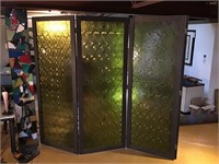 Four panel privacy screen