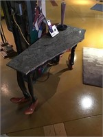 Custom made footed foyer table