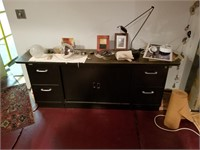 Credenza and contents