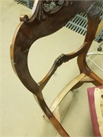 4 flame mahogany side chairs.