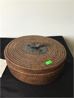Woven alligator basket filled with dice