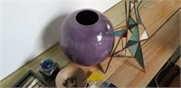 Purple vase, backgammon game, and more