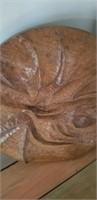 Hand carved wood round