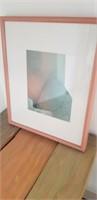 Framed and matted artwork