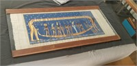 Egyptian papyrus artwork in wood and glass
