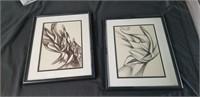 Pair of Signed Schultz art prints