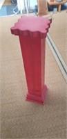 Red painted wood pedestal