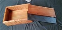 Artist created wood storage Box.