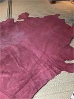 Massive tan leather hide