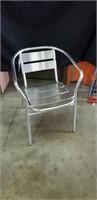 Modern aluminum arm chair