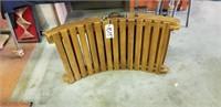 Wood folding lounge chair