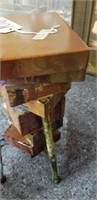 Small heavy wood  End table