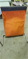 Unusual fabric and metal chair