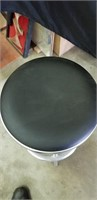 Modern style upholstered metal stool
