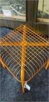 Retro Orange wire metal stool