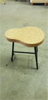 Cork and metal ikea stool