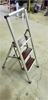 Small aluminum folding stepladder