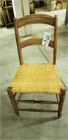 Antique wicker and wood chair