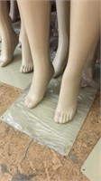 24 White Lower Body Mannequins on Stands W9A