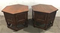 2 Mersman Hexagonal Side Tables Q13A