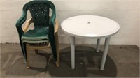 Patio Table w/ 3 Chairs Q11B