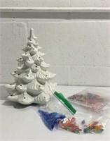 Collectible Ceramic Vintage Christmas Tree K15B