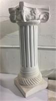 2 Ceramic Pedestals & Wood Candle Holder M11A