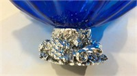 Blue Glass Coffee Table Bowl  M16A