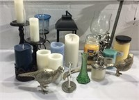Assorted Battery Operated and Wax Candles M14G