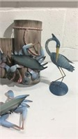 Decorative Crabs and Birds K14B