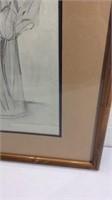 Original Still Life Drawing Signed K15F