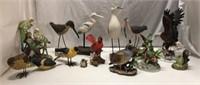 14 Porcelain Bird Figurines Q14G