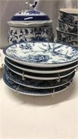 Blue Floral Dishware & Decor Q14G