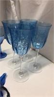 Blue Theme Glassware & Decor Q14F