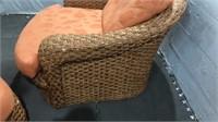 Woven Club Chair w/ Ottoman Q12C