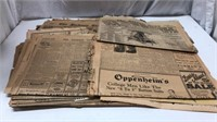 Stack of Antique Newspapers Q12C