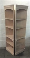 2 Matching Corner Shelving Units T15