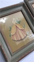 Three Vintage Style Mirrors & Two Prints K13C