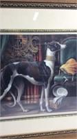 Beautifully Framed Greyhound Print K15F