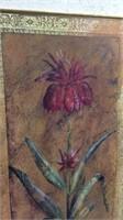 Pair of Distressed Tulip Prints K15E