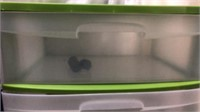 2 Sterilite 3-Drawer-Bins Q14G