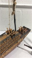 Two Wooden Ship Models K16A