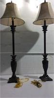 "Pair of 42"" Buffet Lamps K16A"