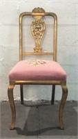 Gorgeous Golden Antique Chair Y12A