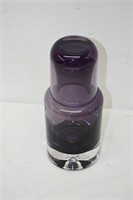Krosno Amethyst Colored Art Glass Carafe & Tumbler