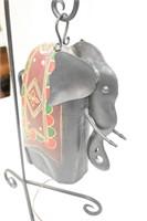 "Metal Elephant Dinner Bell 24"" Tall"