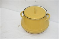 Cast Iron Enamel Belgium Bean Pot