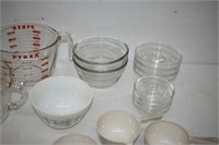Pyrex Measuring Cups, Anchor Hocking Bowls,
