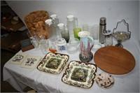 Pitcher, Bowls, Flower Frog, Coasters, etc.