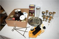 Vintage Tin, Pitchers, Shoe Shine Items, etc.